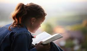 Bible Reading Girl