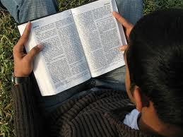Bible Reading Man Lap